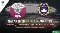 Jadwal Piala AFC U-19 matchday ke-2, Indonesia vs Qatar. (Bola.com/Dody Iryawan)