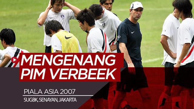 Berita video mengenang pelatih asal Belanda yang belum lama meninggal dunia, Pim Verbeek, ketika dirinya menangani Korsel (Korea Selatan) pada Piala Asia 2007 di SUGBK, Senayan, Jakarta.