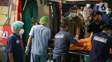 FOTO: Jenazah Korban Kebakaran Lapas Tangerang Tiba di RS Polri Kramat Jati