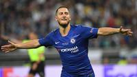 Eden Hazard. Gelandang ini didatangkan Chelsea dari Lille pada awal musim 2012/2013 dengan nilai 35 juta euro. Setelah memperkuat The Blues selama 7 musim, pada awal musim 2019/2020 ia dilepas ke Real Madrid dengan nilai transfer mencapai 115 juta euro. (AFP/Kirill Kudryavtsev)