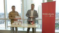 Tony (B2B Sales Manager TP-Link Indonesia) (kiri) dan Yoshia (Marketing Manager TP-Link Indonesia) (kanan)