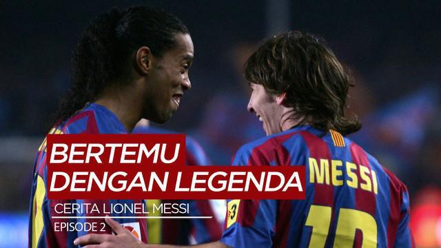 Berita Motion Grafis Perjalanan Lionel Messi Episode 2, Kisah Petemuan dengan Ronaldinho di Barcelona