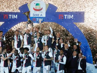 Euforia Pemain Juventus Saat Raih Gelar Serie A