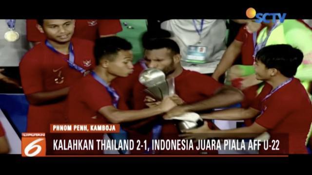 Tim Garuda Muda akhiri puasa gelar juara usai taklukkan tim Gajah Putih  2-1 di final Piala AFF U-22.