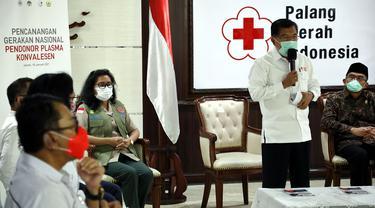 FOTO: PMI Canangkan Gerakan Nasional Pendonor Plasma Konvalesen