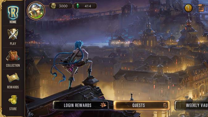Tampilan utama di Legends of Runeterra. (Liputan6.com/ Yuslianson)