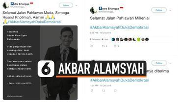 Korban kerusuhan di depan gedung DPR/MPR Akbar Alamsyah meninggal setelah sempat mengalami koma akibat retak di tempurung kepala. Warganet mengunggah kesedihan di media sosial.