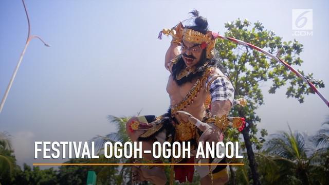 Memperingati Hari Raya Nyepi, Festival Ogoh-ogoh diadakan di Ancol dan menghibur para pengunjung.