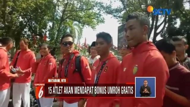 Pemerintah NTB berencana akan berangkatkan umrah para atlet yang telah berlaga di Asian Games 2018 asal kota seribu masjid, yang digawangi Zohri dan kawan-kawan.