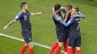 Prancis melawan Peru pada laga lanjutan penyisihan Grup C Piala Dunia 2018, Kamis (21/6/2018) di Stadion Sentral, Yekaterinburg. (AP/Vadim Ghirda)