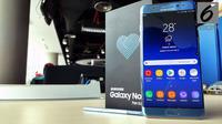 Samsung Galaxy Note FE. (Liputan6.com/ Yuslianson)