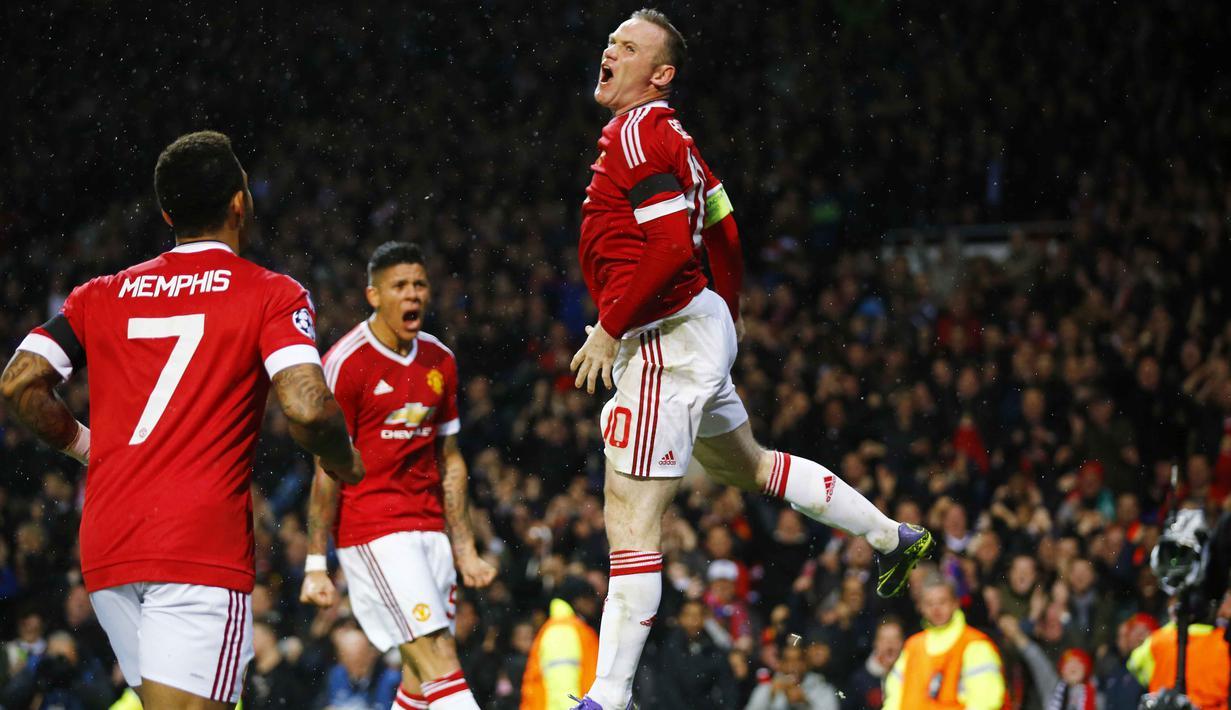 Rooney Bawa Manchester United Menang Tipis Foto Bola