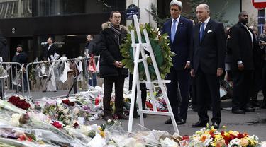 Menlu As John Kerry di Prancis. (Reuters)