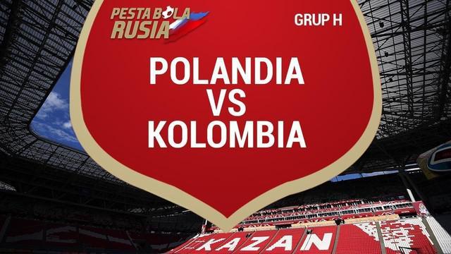 Kolombia menang telak 3-0 atas Polandia pada matchday kedua Grup H Piala Dunia 2018, di Kazan Arena, Minggu (24/6/2018) atau Senin (25/6/2018) dini hari WIB