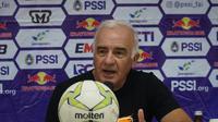 Pelatih Borneo FC Roberto Carlos Mario Gomez puas dengan karakter permainan anak asuhnya. (Huyogo Simbolon)