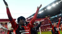 Gelandang Rennes, Eduardo Camavinga. (AFP/JEAN-FRANCOIS MONIER)