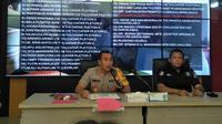 Kapolresta Palembang Kombes Pol Didi Hayamansyah menetapkan satu orang pelaku penganiayaan siswa SMA Taruna Indonesia Palembang (Liputan6.com / Nefri Inge)