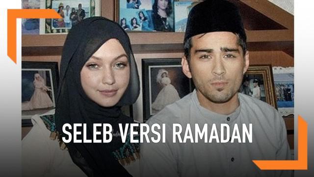 Apa jadinya ya jika selebriti luar negeri mengenakan baju muslim? Mulai dari memakai peci, jilbab, dan juga sarung. Mau tahu kan gimana potretnya? Ini dia!