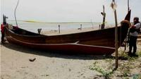 BARANG Bukti: Polisi mengamankan kapal milik tersangka pembunuhan Bripka Faisal. (JawaPos.com/Polda Aceh)