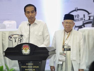 Gaya Pidato Jokowi-Ma'ruf dan Prabowo-Sandi Usai Dapat Nomor Urut