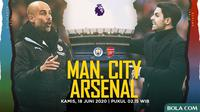 Premier League - Manchester City Vs Arsenal - Head to Head Pelatih (Bola.com/Adreanus Titus)
