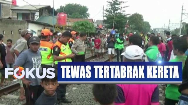 Korban yang tercatat kelahiran Brebes, Jawa Tengah, ini tewas setelah tubuhnya dihantam kereta.
