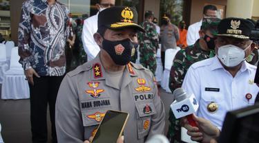 Kapolda Sulut Irjen Pol Nana Sudjana saat memberikan keterangan pers di Markas Polda Sulut.