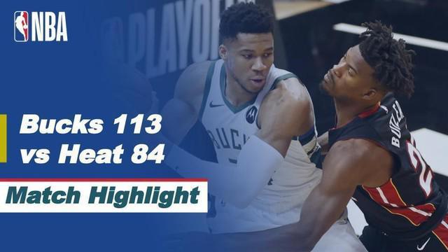 Berita Video Highlights NBA Playoffs, Milwaukee Bucks Vs Miami Heat 113-84 (28/5/2021)