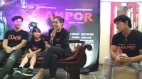 Para pemain Lampor Kranda Terbang mengaku baru pertama kali bermain film horor. Foto (Liputan6.com / Panji Prayitno)
