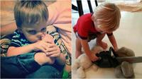 Kelakuan kocak anak kecil (Sumber: toopanda)