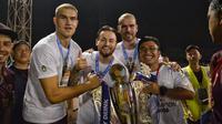 PSM Makassar menjuara Piala Indonesia. (Bola.com/Abdi Satria)