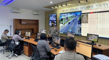 Setelah lebih dari 3 hari, ada ribuan pelanggaran lalu lintas yang tertangkap kamera pengawas yang dipasang Polda Sulut.