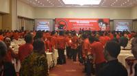 PDIP menggelar konsolidasi internal pemenangan untuk Pilgub Jatim 2018 (Zainul Arifin/Liputan6.com)