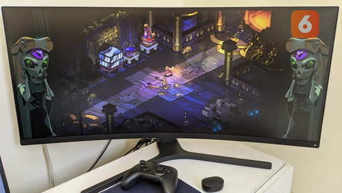 Xiaomi Mi Curved Gaming Monitor. (Liputan6.com/ Yuslianson)