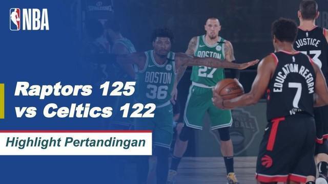 Berita Video Highlights NBA, Toronto Raptors Menang Dramatis Atas Boston Celtics 125-122