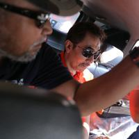 """""""Gatot Brajamusti kami periksa di Subid Resmob Polda Metro Jaya terkait tentang penyimpanan (dan) memiliki senjata api. Kami akan melakukan pemeriksaan terkait dengan penemuan dari 600an butir peluru,"""" kata Budi Hermanto di Polda.(Andy Masela/Bintang.com)"""