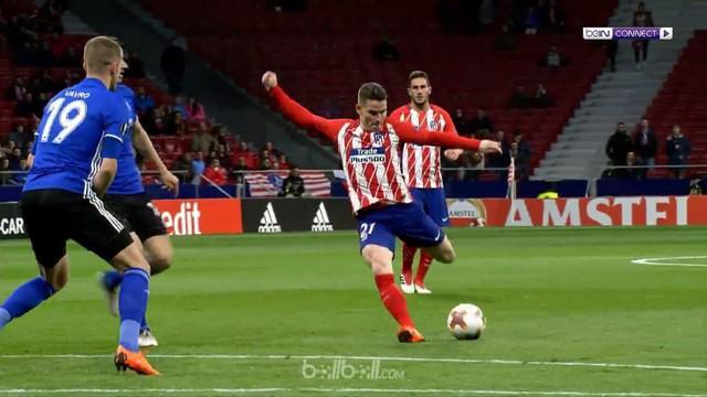 Mengantongi kemenangan telak di pertemuan pertama, Atletico Madrid melaju ke babak 16 besar Liga Europa dengan nyaman setelah di p...