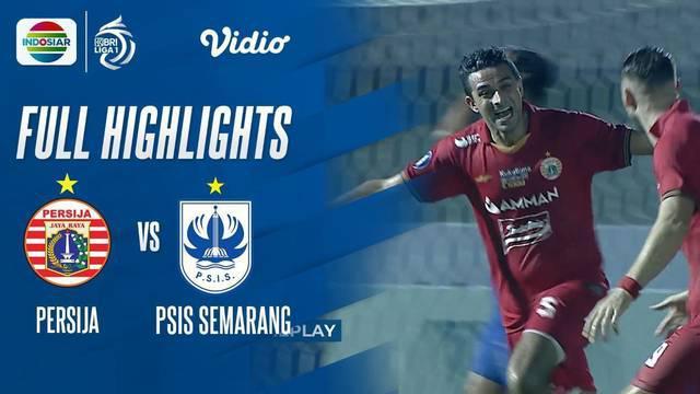 Berita Video highlights BRI Liga 1 2021/2022 pertandingan antara Persija Jakarta melawan PSIS Semarang, Minggu (12/9/2021) malam WIB.