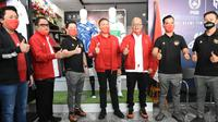 Ketua Umum PSSI. Mochamad Iriawan menghadiri acara peluncuran kostum tandang terbaru timnas Indonesia di Jakarta, Senin (27/7/2020) (Doc PSSI)