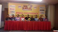 Konferensi pers jelang Final Four Proliga 2019 di GOr Joyoboyo, Kediri, Kamis (7/2/2019). (Bola.com/Gatot Susetyo)