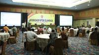 Workshop IPTEK Olahraga di Krakatau Hall Hotel Horison, Bekasi, Jawa Barat, Selasa (1/9).