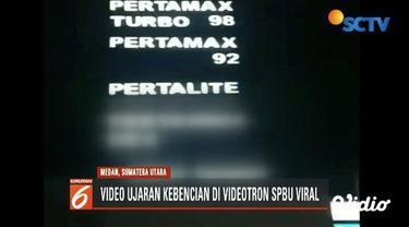 Polres Pelabuhan Belawan buru pembuat dan penyebar ujaran kebencian terhadap Jokowi dan Megawati di videotron SPBU.
