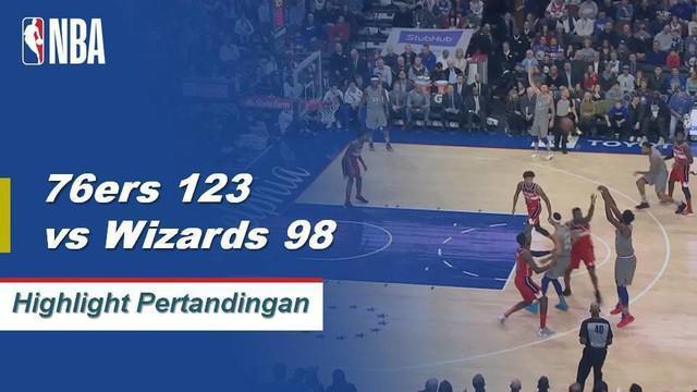 Sixers mengalahkan Wizards setelah penampilan double-double dari Joel Embiid, mencetak 16 point dan 15 rebound 123-98