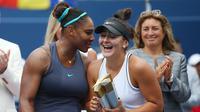 Sempat bertemu di Rogers Cup 2019, Serena Williams dan Bianca Andreescu kini bertarung di final AS Terbuka 2019. (AFP/Vaughn Ridley)