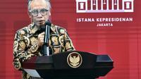 Ketua Dewan Komisioner OJK Wimboh Santoso memberikan keterangan di Kantor Presiden, Jakarta, Kamis (10/6/2021). (Foto: Rusman/Biro Pers Sekretariat Presiden)