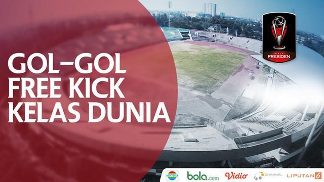 Berita video gol-gol free kick kelas dunia yang telah tercipta di Piala Presiden 2018. Gol siapa favoritmu?