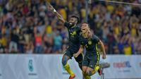 Timnas U-23 Malaysia mengoleksi sepuluh gol selama fase gurp SEA Games 2017.  Malaysia akhirnya menjadi pemuncak klasemen Grup A. (Bola.com/KL 2017)
