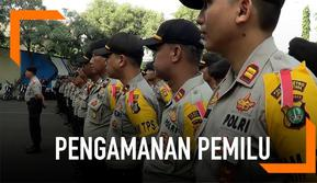 Petugas menyiagakan 1.200 personel gabungan untuk menjaga jalannya pemilu 2019 di berbagai TPS di Jakarta Utara.
