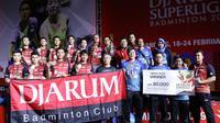 Tim putra PB Djarum menjuarai Superliga Badminton 2019 di Sasana Budaya Bandung, Minggu (24/2/2019). (PBSI)