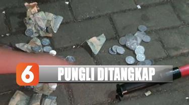 Polres Pelabuhan Tanjung Priok tangkap lima 'Pak Ogah' yang melakukan punguli terhadap sopir truk.